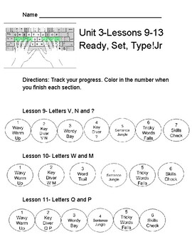 Typetastic Student Recording Form Lessons 9-13