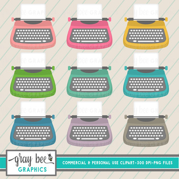 Typewriter Clip Art Pack