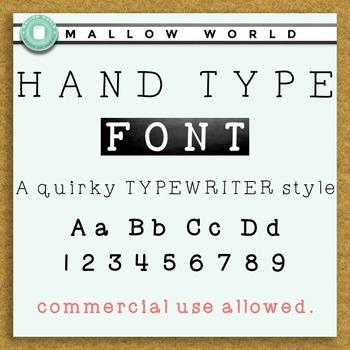 Handwritten Typewriter Font