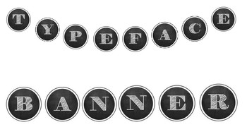 Typewriter Style Banner Letters