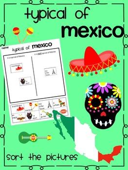 Typical of Mexico {Cinco de mayo Sort} Activity  ENGLISH version