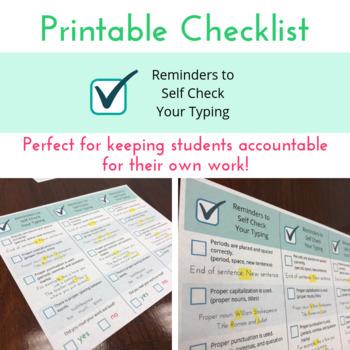 Typing Checklist