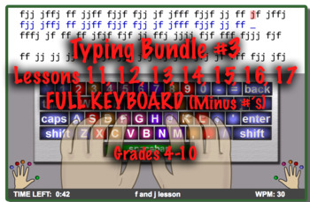 Typing Curriculum 4-8th grade - freetypinggame.net - PACKET #3