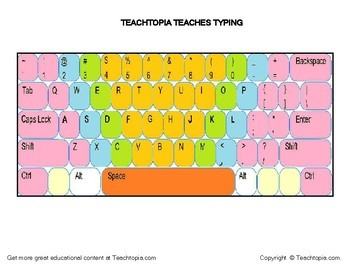 Typing / Keyboarding Practice Keyboards  Printable keyboards to teach typing.