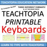 Typing / Keyboarding Practice Keyboards  Printable keyboards to teach typing.