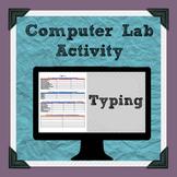 Typing Practice Computer Lab Activity