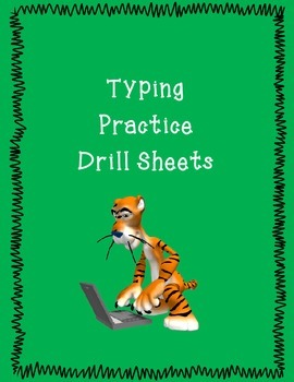 Typing Practice Drill Sheets