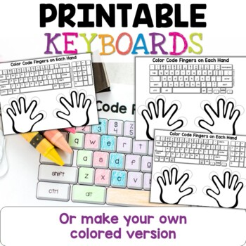 Typing Practice Printable Keyboard Pages Distance Learning