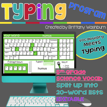 Typing Program with 5th Grade Science Vocabulary