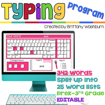 Typing Program with Sight Words