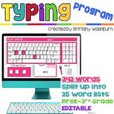 Keyboarding Program: Typing Sight Words