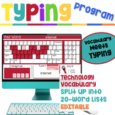Typing Program with Technology Vocabulary