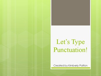 Typing Punctuation
