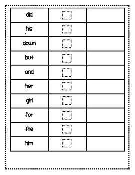Typing Sight Words