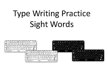 Typing Word Mats and Sheets