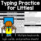 Typing for Littles | Print Keyboards, Login Cards, Handout