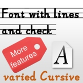 Typing lines, editable alphabet tracing sheet, Multifuncti