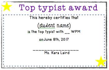 Typist Award