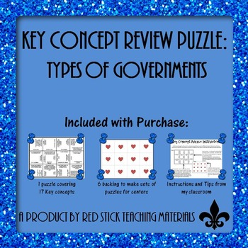 Types of Govermnet Key Concept Puzzle
