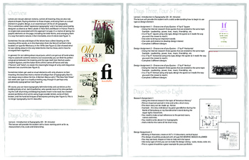 Typography Design Project Packet