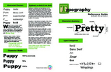 Typography Reference Sheet