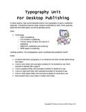 Typography Unit for Desktop Publishing in High School