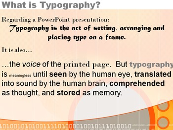 Typography in a PowerPoint Presentation - Does it really matter?