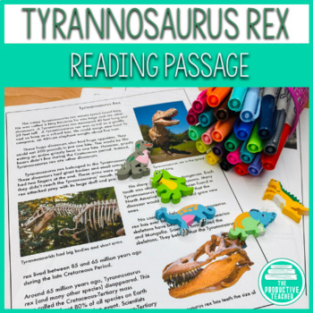 Informational Text Reading Passage Set: Tyrannosaurus rex