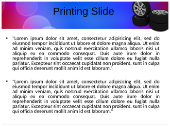 Tyre PPT Template