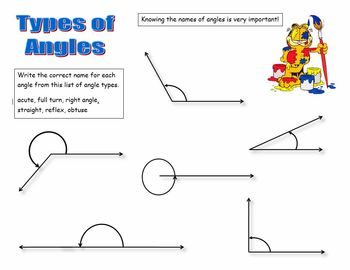 Types Of Angles Worksheets Teachers Pay Teachers