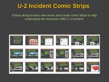U-2 Incident (Crisis) Comic Strip Activity: visual, fun, engaging lesson w links