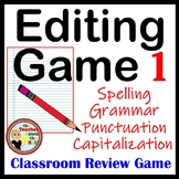 Editing Game - Spelling, Capitalization, Punctuation, & Grammar Review