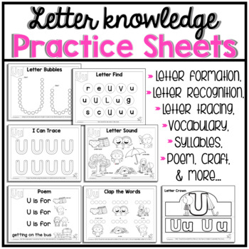 U Beginning Sound Letter of The Week Activity Pack