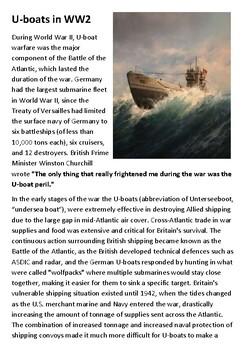 U-Boats in World War Two Handout