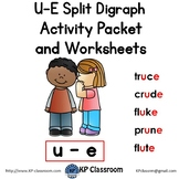 U-E Split Digraph Activity Packet and Worksheets