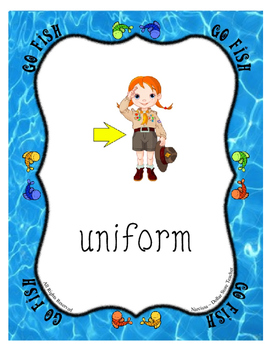 U Go Fish Card Game ~ Letter of the Week Supplement for the Vowel U