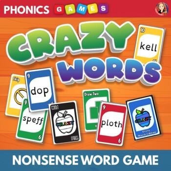 Nonsense Words Phonics Card Game of Decoding