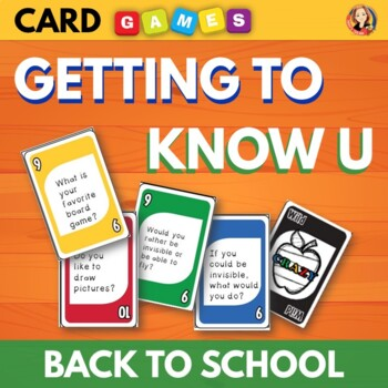 Back to School Getting to Know You Card Game