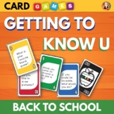 Getting to Know You Card Game - Great for Back to School