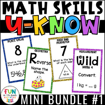 Math Games Bundle 1: U-Know for Math Centers or Stations