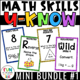 Math Games Mini U-Know Bundle 1 | Math Test Prep Review Games