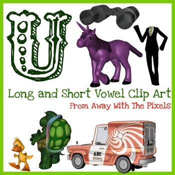 U - Long and Short Vowel Clip Art - Large High Quality Clipart for Teachers
