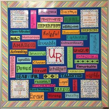 U R Bulletin Board - Color Me Bright - Self Esteem and Positive Words
