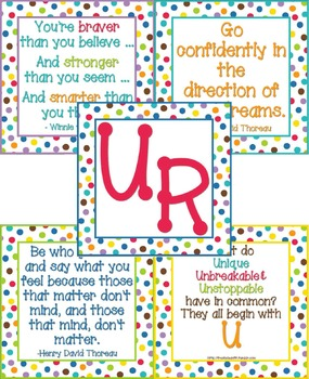 U R Bulletin Board - Color Me Bright - Self Esteem and Pos