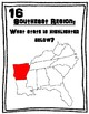 U.S. 50 STATES - 5 Regions All Around the Room Scavenger Hunt Activity BUNDLE