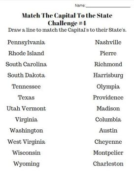 U.S.A. History 50 States Worksheets, U.S. Geography, United States Unit