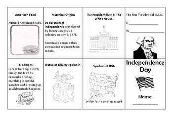 U.S.A. Independence Day Mini-book