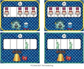 U.S.A. Patriotic Counting with 5 Frames {Subitizing}