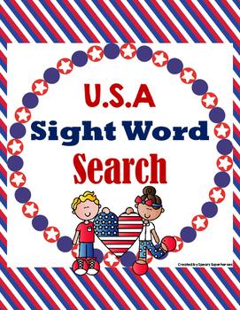 U.S.A. Sight Word Search