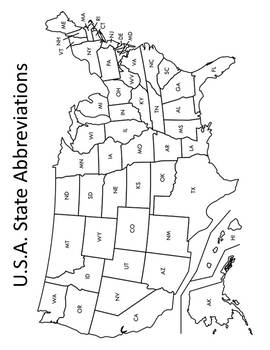 State Abbreviations Activities & Assessments State Abbreviations List & Practice